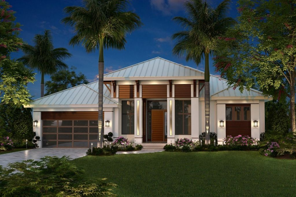 Contemporary Style House Plan 3 Beds 3 Baths 2684 Sq Ft Plan 27 551 Florida House Plans Coastal House Plans Mediterranean Style House Plans
