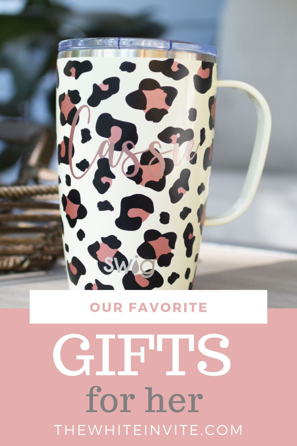 Swig Personalized Coffee Mug Luxy Leopard Bridesmaid Gifts Unique Gifts In A Mug Personalized Coffee Mugs