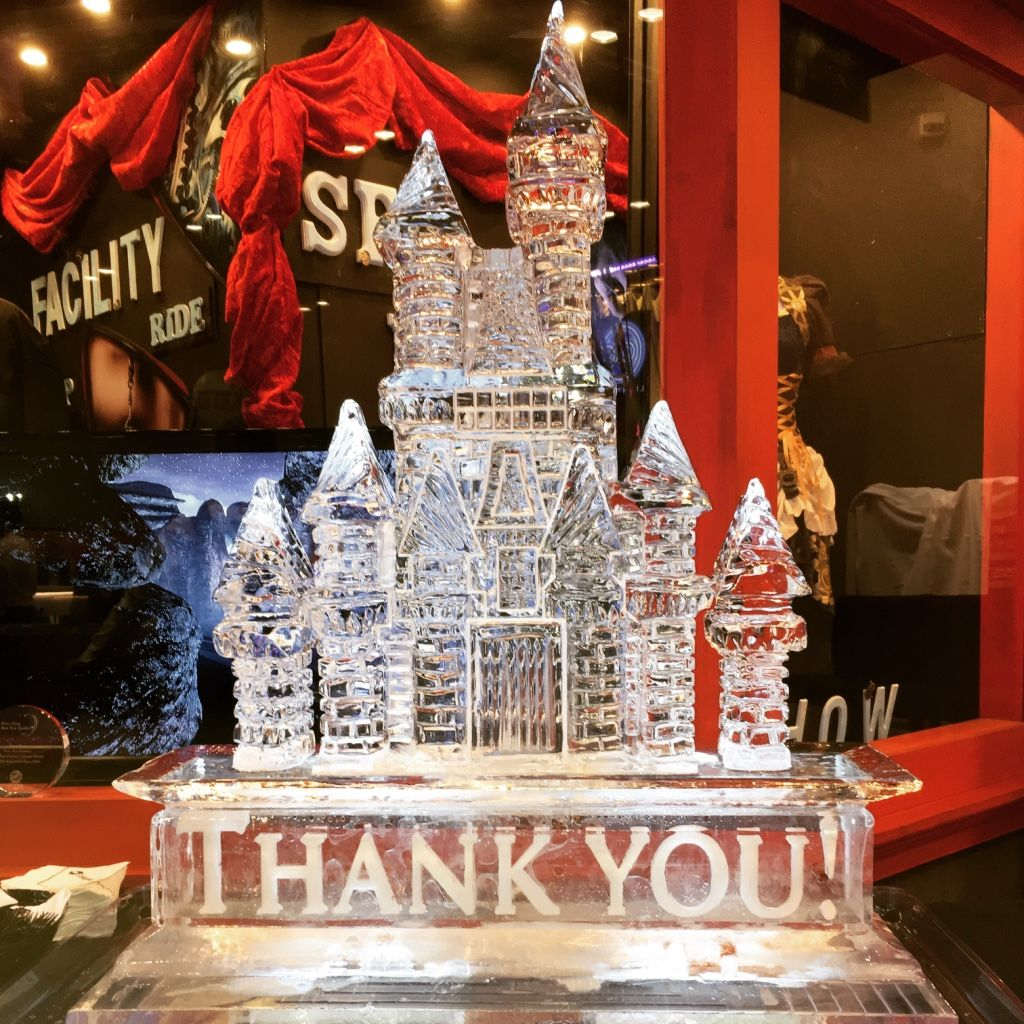 Harry Potter Castle ice sculpture for a corporate event at the Orange County Convention Center. #icesculptures #icesculpturesorlando