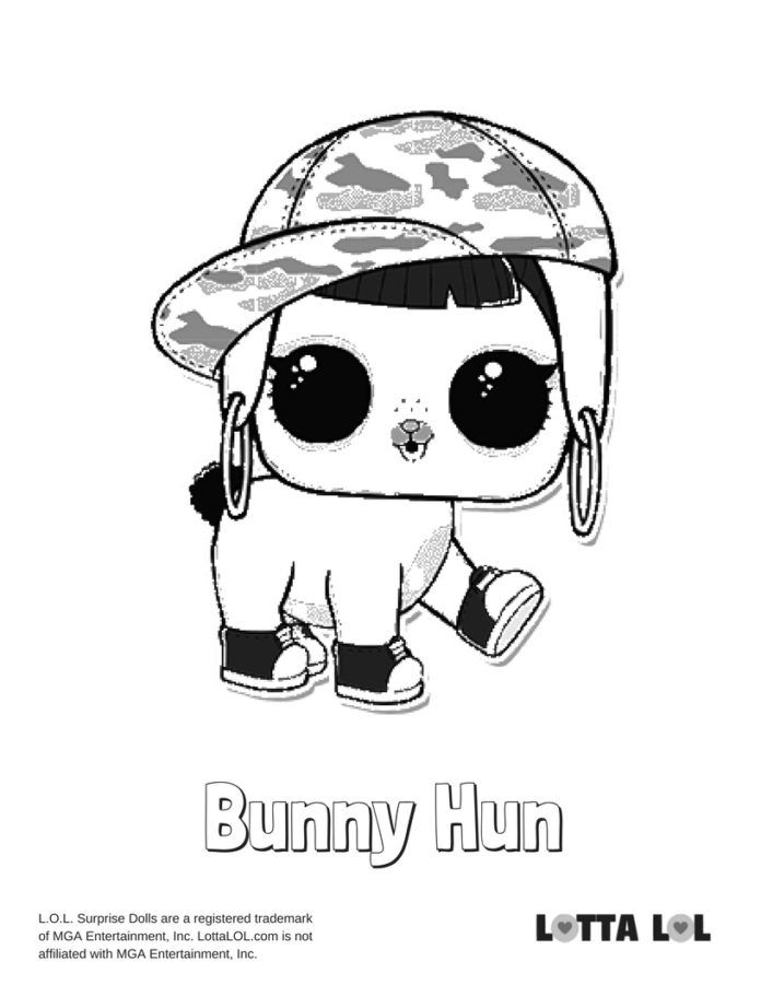 Bunny Hun LOL Surprise Doll Coloring Page