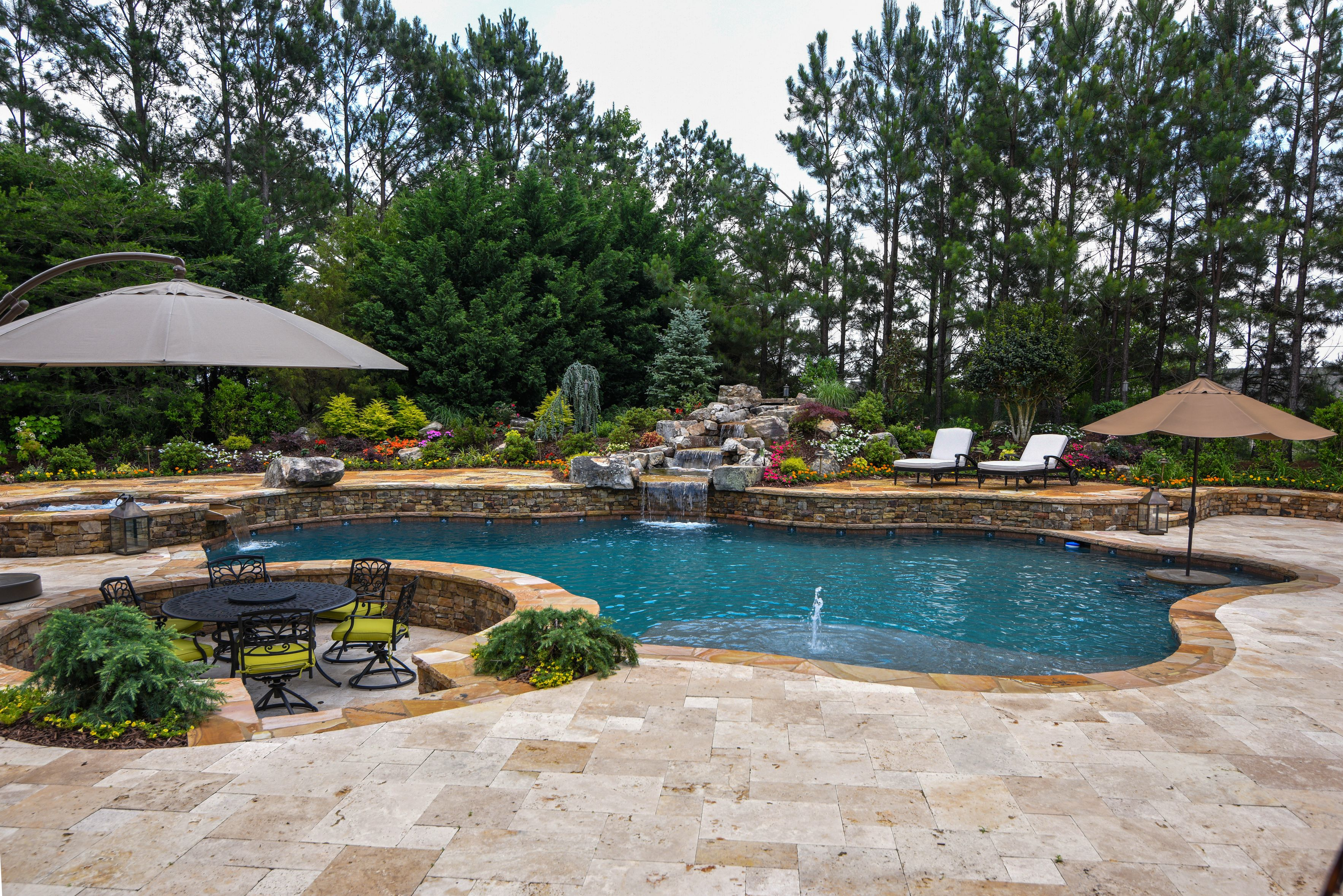 swimming pool with outdoor kitchen plans backyard landscaping