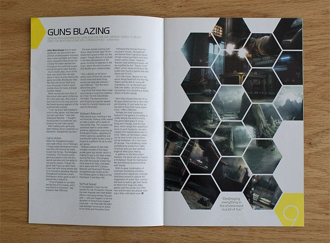 Love the honeycomb design for the images and the yellow point in ...