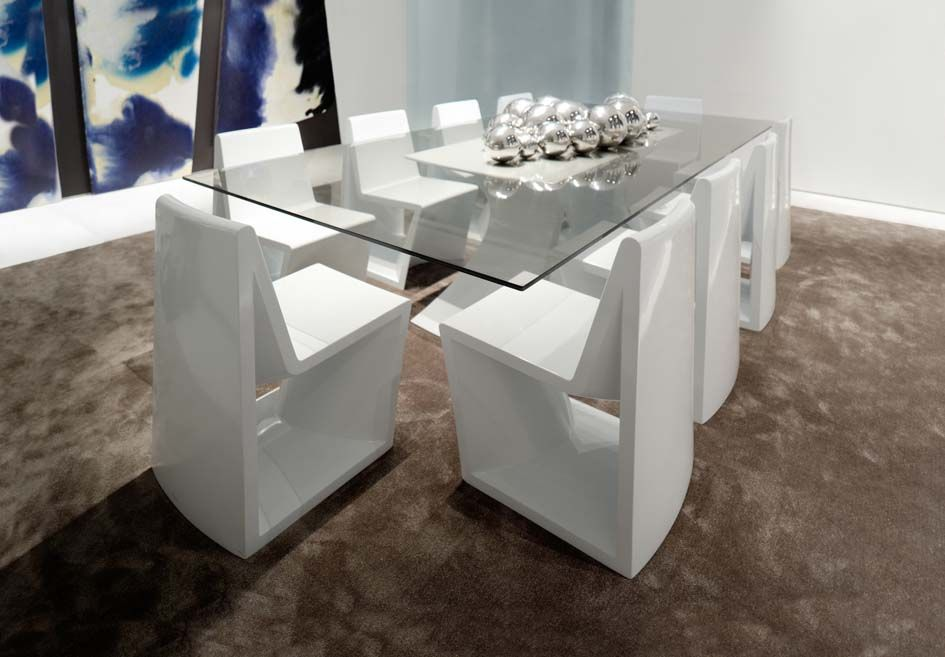 Mesas de comedor de dise o modelo rest decoraci n beltran for Casa de diseno henry beltran