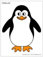 Colored Penguin Template Animal Cutouts Penguin Coloring Pages