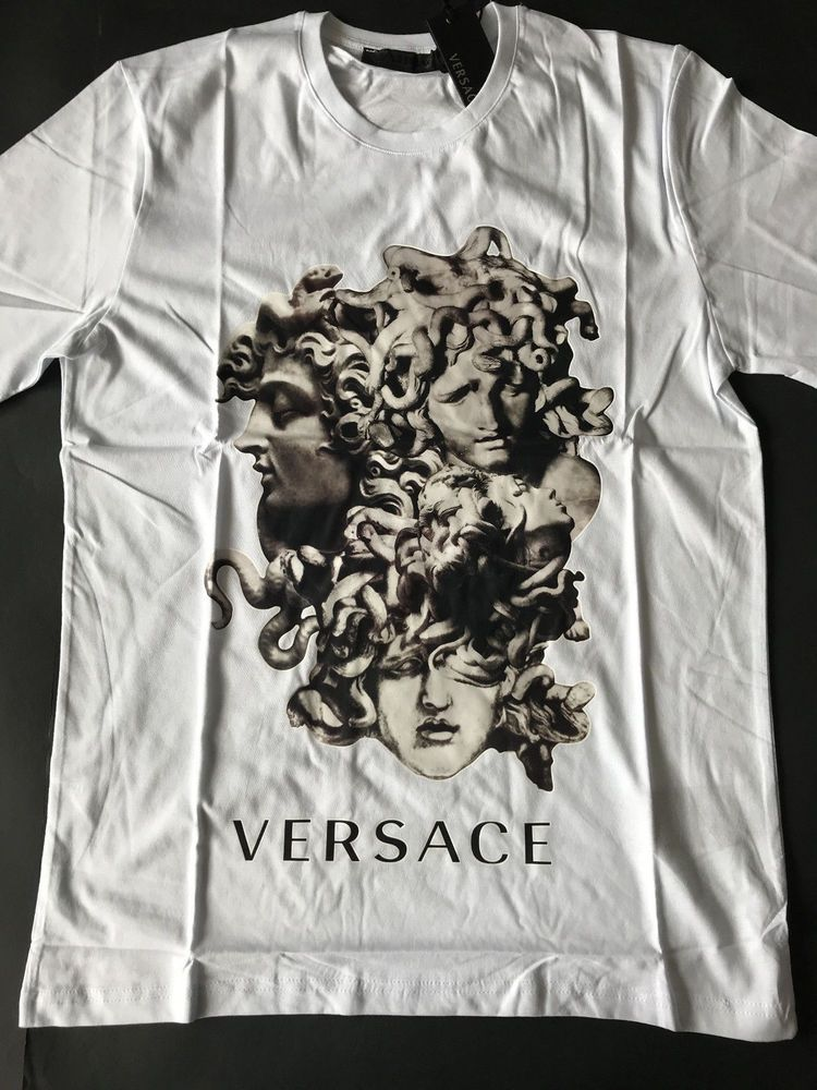 407148c8ba9 Brand New Versace Ancient Medusa Men s Cotton T-Shirt White Statue Baroque  S M  fashion  clothing  shoes  accessories  mensclothing  shirts (ebay link)