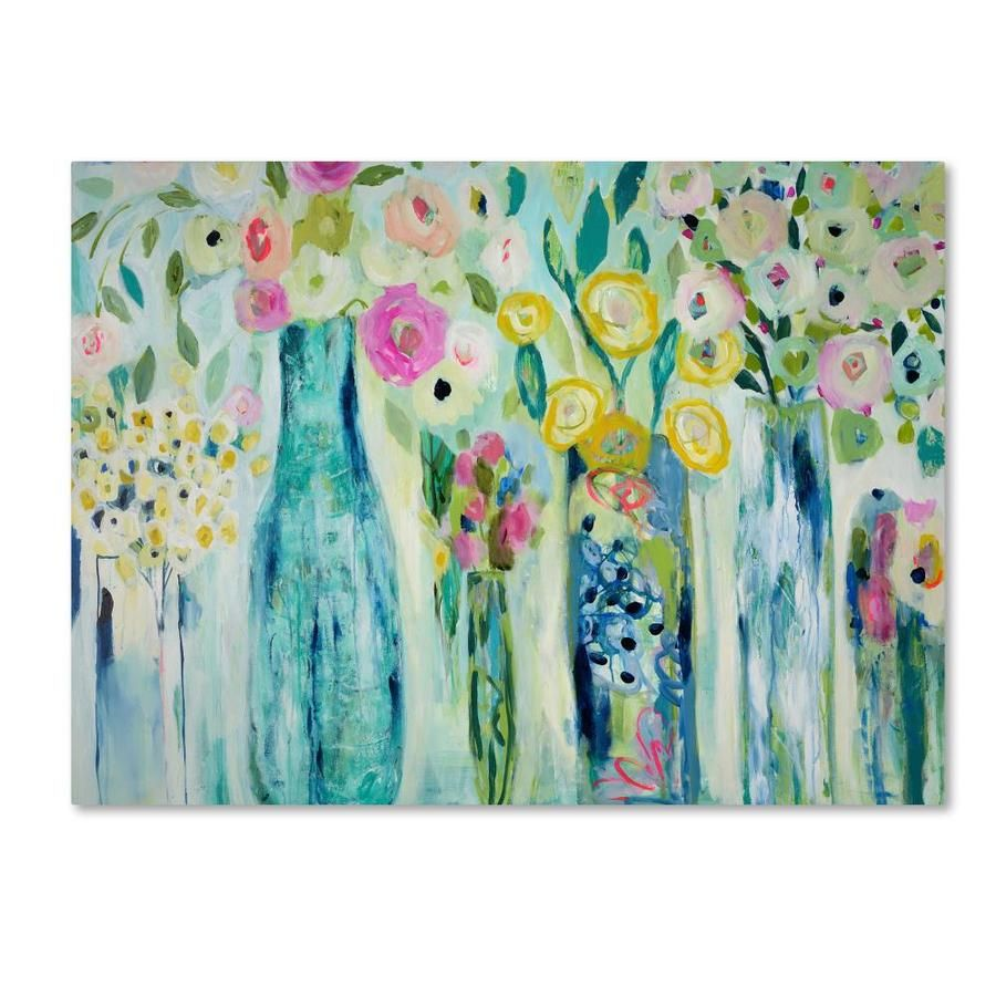 Trademark Fine Art Floral Framed 35 In H X 47 In W Floral Canvas Print Lowes Com Floral Art Art Canvas Art