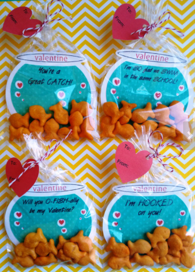 Valentines For Classmates / School Kids, Boys, U0026 Girls: Fish Bowl Cards  Filled