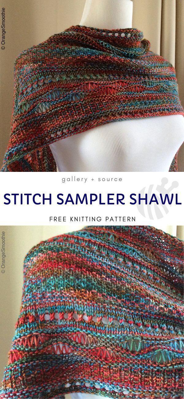 Knitted Drop Stitch Shawls | Shawl knitting patterns, Free ...
