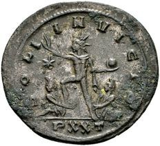 Romeinse Rijk  - AE Antoninianus van keizer Aurelianus (270-275 n.Chr.), geslagen in Ticinum