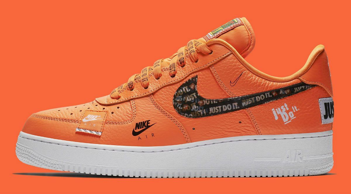 Nike Air Force 1 Low Just Do It Orange Colorway With Images