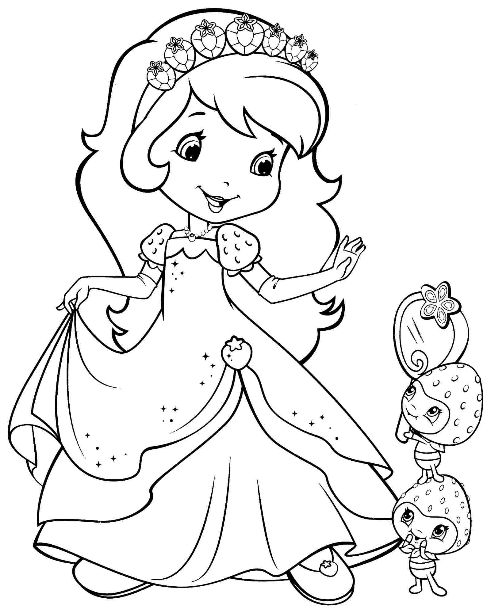 Strawberry Shortcake Cartoon Coloring Pages Free Cartoon