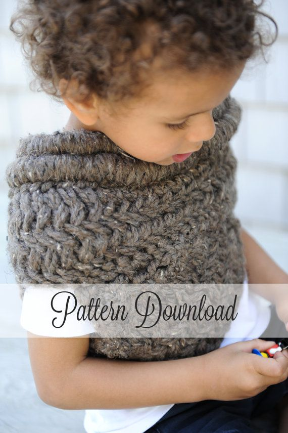 KNITTING PATTERN // The Archer's Poncho - Toddler version (aka The Katniss Cowl / The Huntress Cowl) - juts $4.98 on Etsy