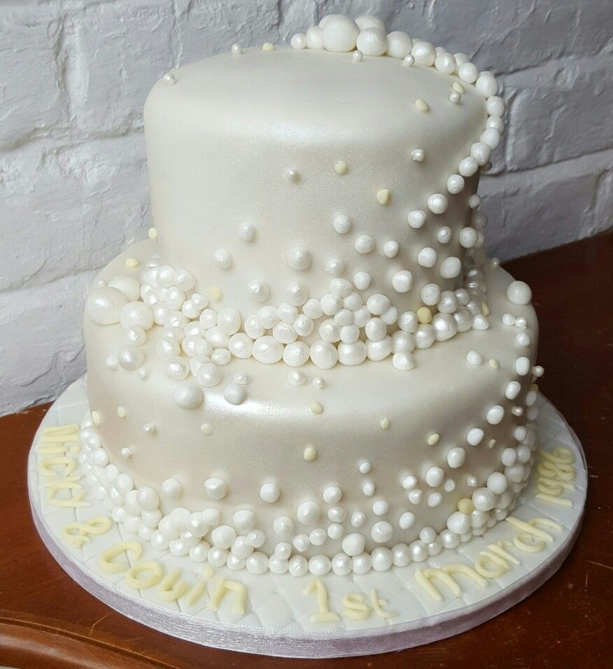 Cake Decorations For 30th Wedding Anniversary : 30th Pearl Wedding Anniversary cake www.chic-dreams.co.uk ...