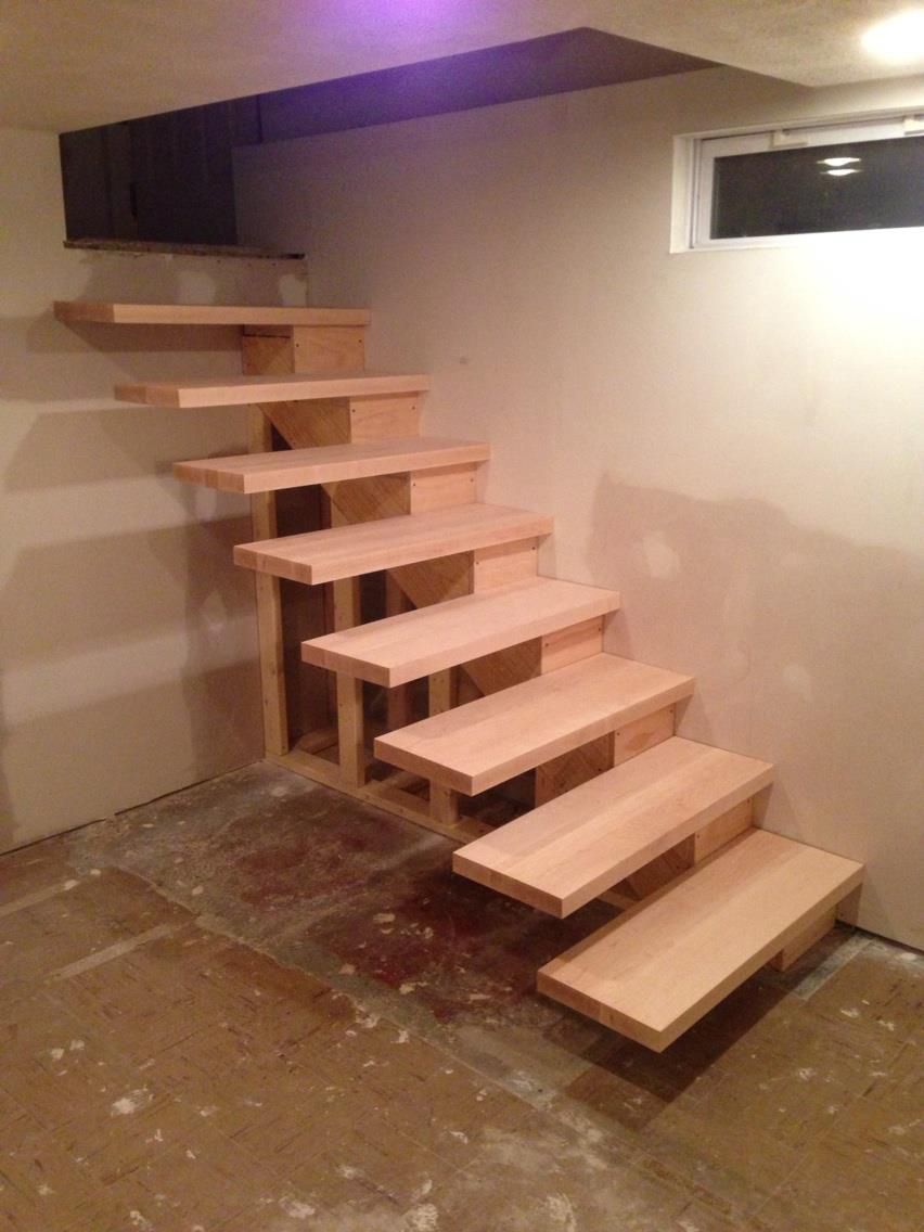 How to build floating stairs handy father how to build Floating stairs