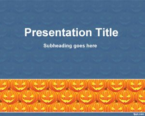 halloween cucurbit powerpoint template theme powerpoint