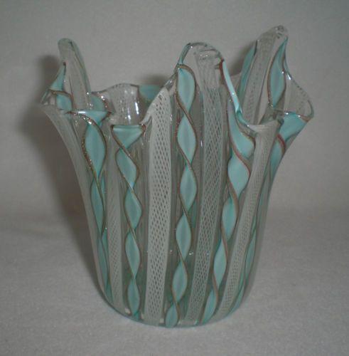 Stuff my grandmother had around the house.. vintage italian murano art glass cornucopia jack in the pulpit vase