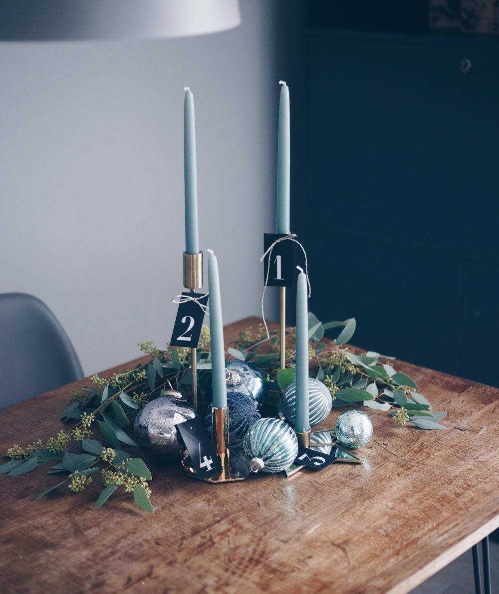 diy adventskranz im scandi look mit eukalyptus und gold. Black Bedroom Furniture Sets. Home Design Ideas