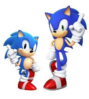 Sonic The Hedgehog Old Young Sonic The Hedgehog Sonic Hedgehog