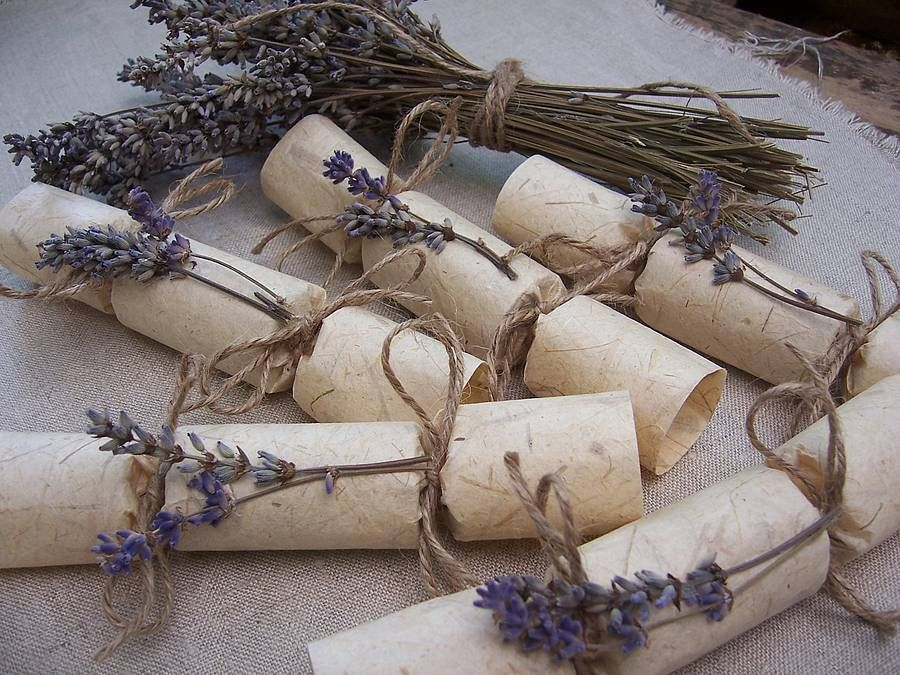 Natural Lavender Mini Wedding Crackers By Froufrou Thomas