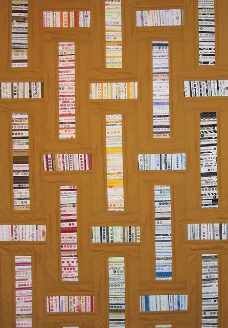Modern Mustard Selvage Quilt by quilts by elena, via Flickr