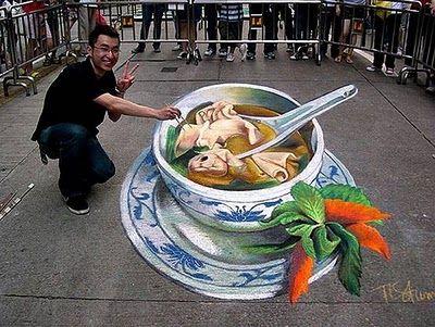 3D pavement art. #graffiti