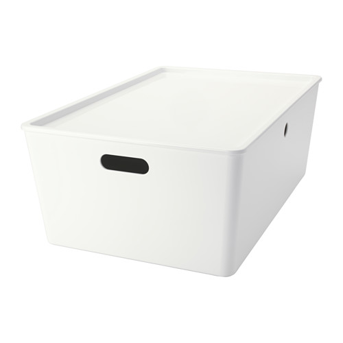 Ikea Kuggis Box With Lid 14 ½x21 ¼x8 ¼ Perfect For Arts And Crafts Accessories Or Other Bulky Items Easy To Lift Carry Thanks The
