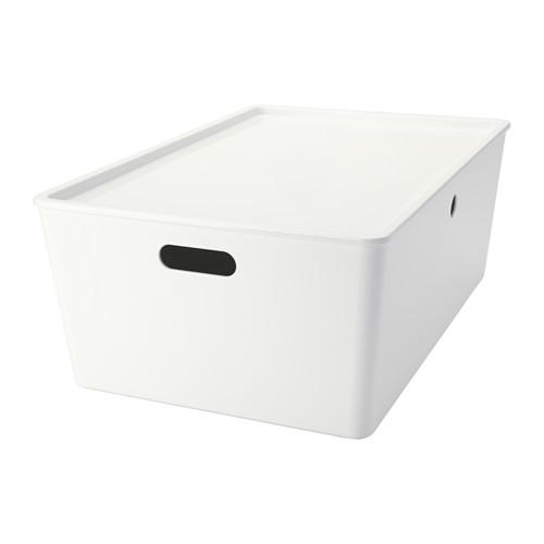 Kuggis Box With Lid Ikea Storage Boxes Ikea Storage Baskets
