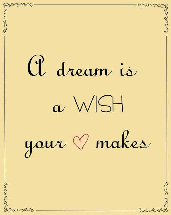 Disney Princess Quote Print Cinderella A Dream By BambiAndFalana 900