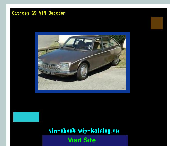 Citroen Gs Vin Decoder Lookup Citroen Gs Vin Number 220315