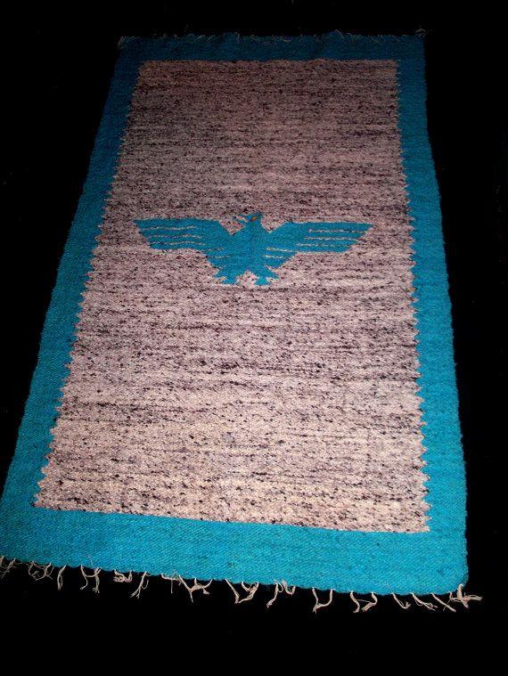 Mexican Thunderbird Large Area Rug Southwestern By Sunsetstars 85 00