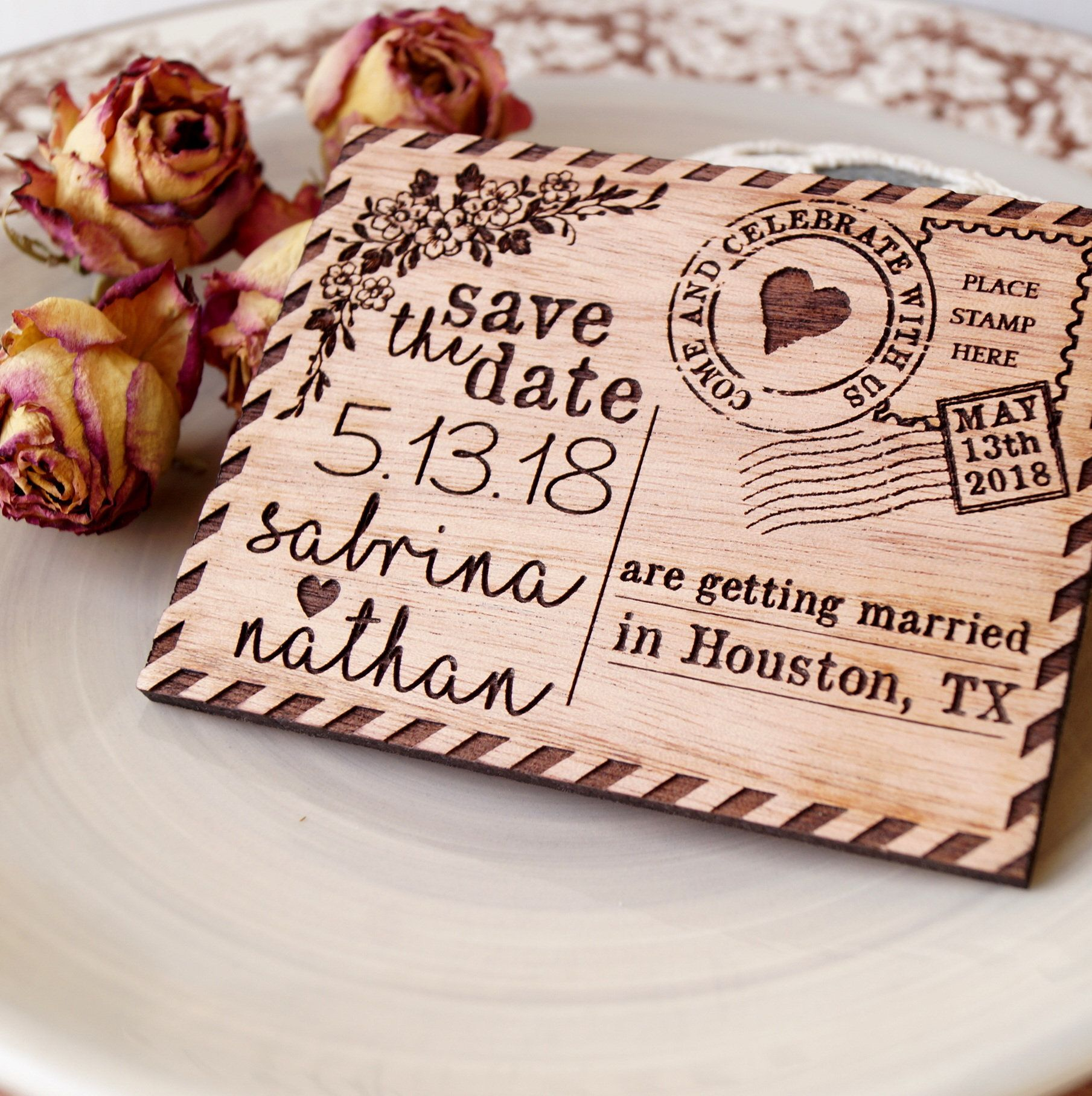 Wedding save the date save the dates, rustic save