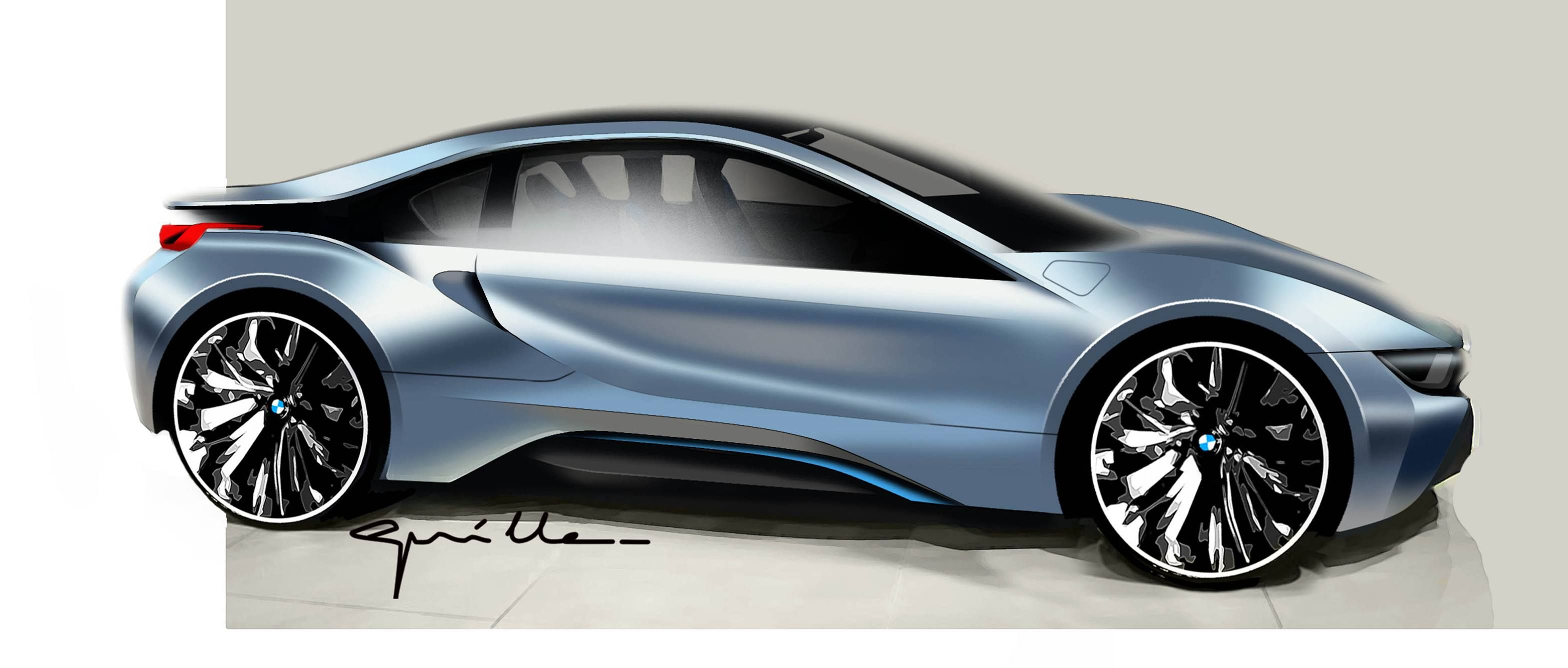 Bmw I8 Sketches Digital Analog Pinterest Bmw I8 Bmw And Cars