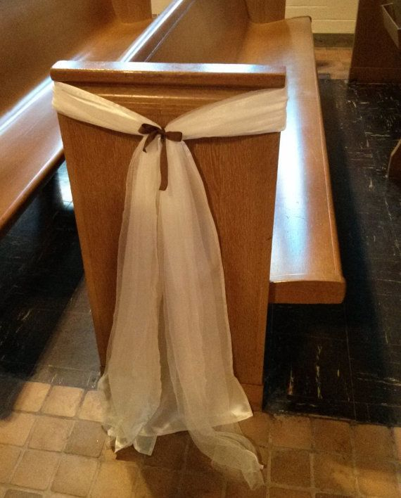 Church Pew Wedding Decoration Ideas: Pew Decoration Sash - Google Search