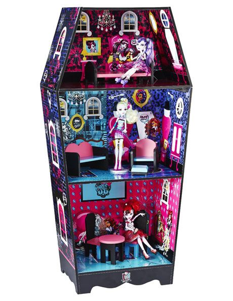Monster high monster high coffin doll house with furniture myer online monster high house - Casa de monster high ...