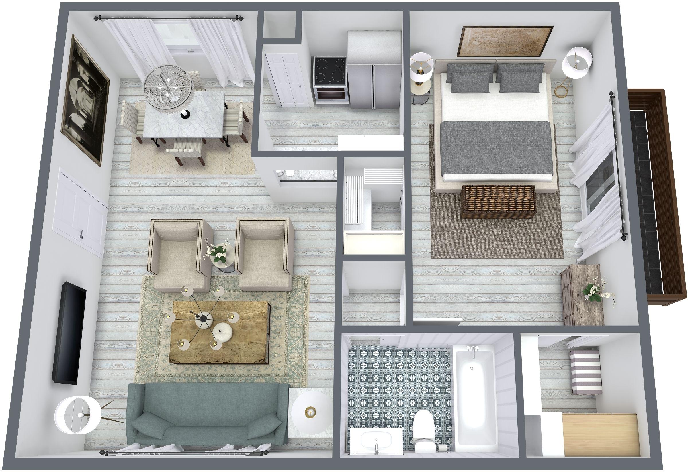 3D Floor plan by Blue-Sketch.com | 3D Floor Plan | Pinterest | 3d
