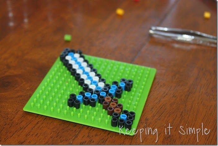 minecraft kids craft idea melty bead tools kidscraft. Black Bedroom Furniture Sets. Home Design Ideas
