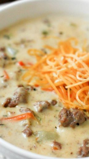 Cheeseburger Soup ~ An award winning soup that is absolutely incredible.... A must try!
