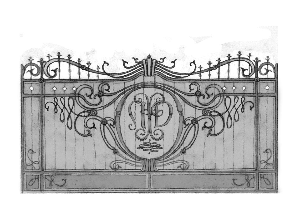 Ворота в картинках эскизы