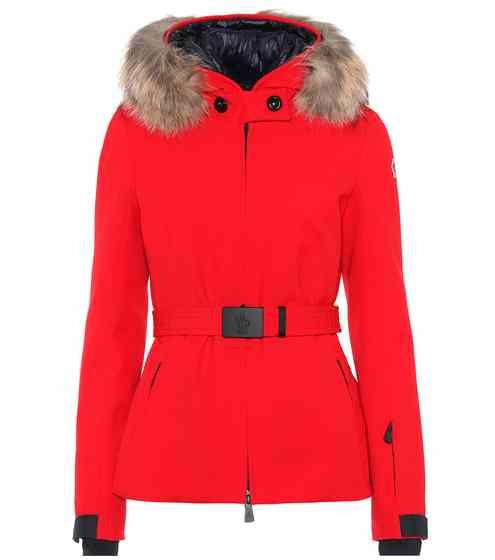 moncler red ski suit