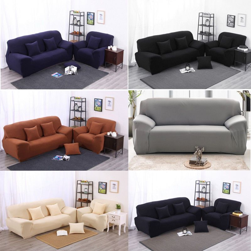 1 2 3 4 Seat  Stretch Sofa Loveseat Cover Slipcover Elastic Couch Protector Set