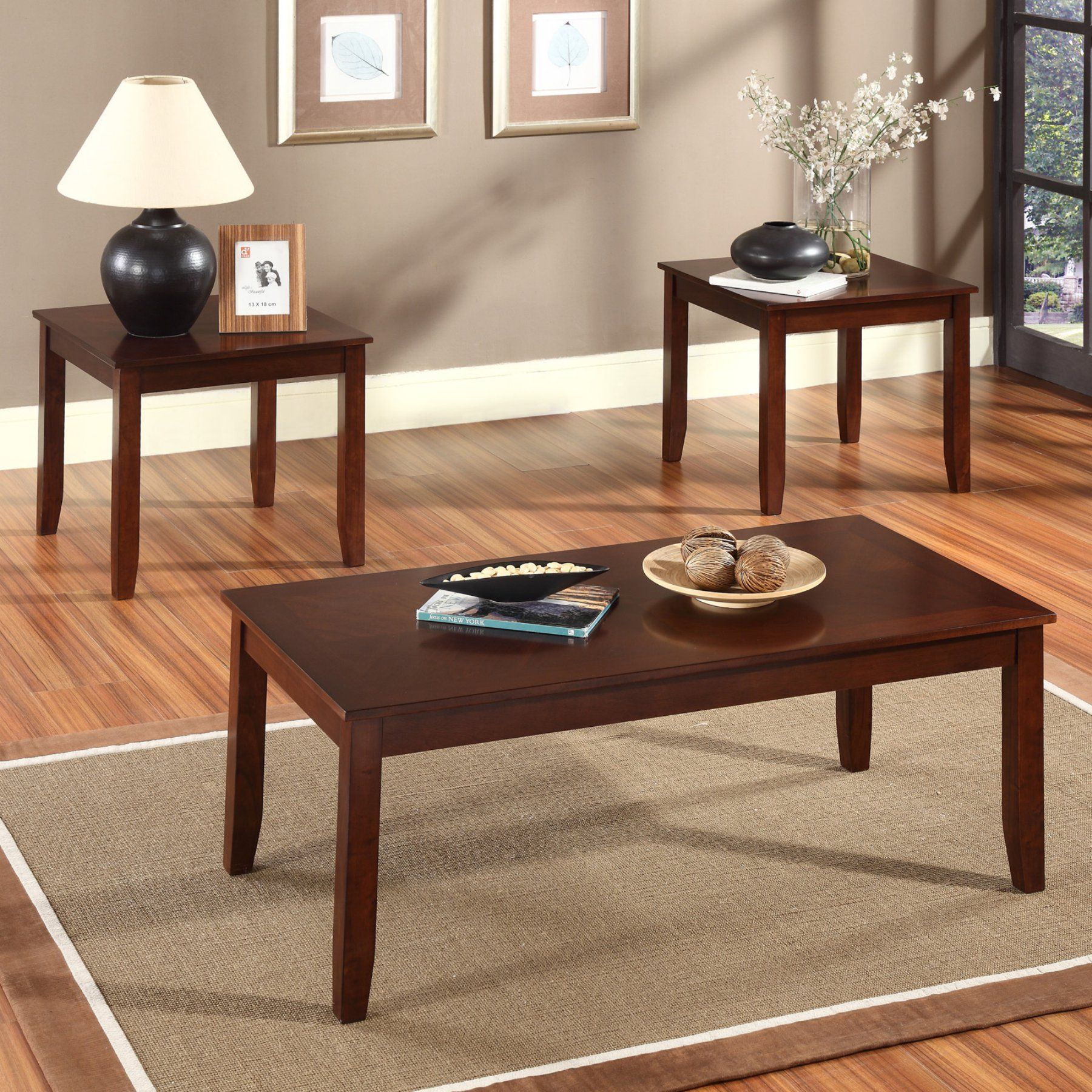 Best Standard Furniture Brantley Coffee Table With 2 End Tables 400 x 300