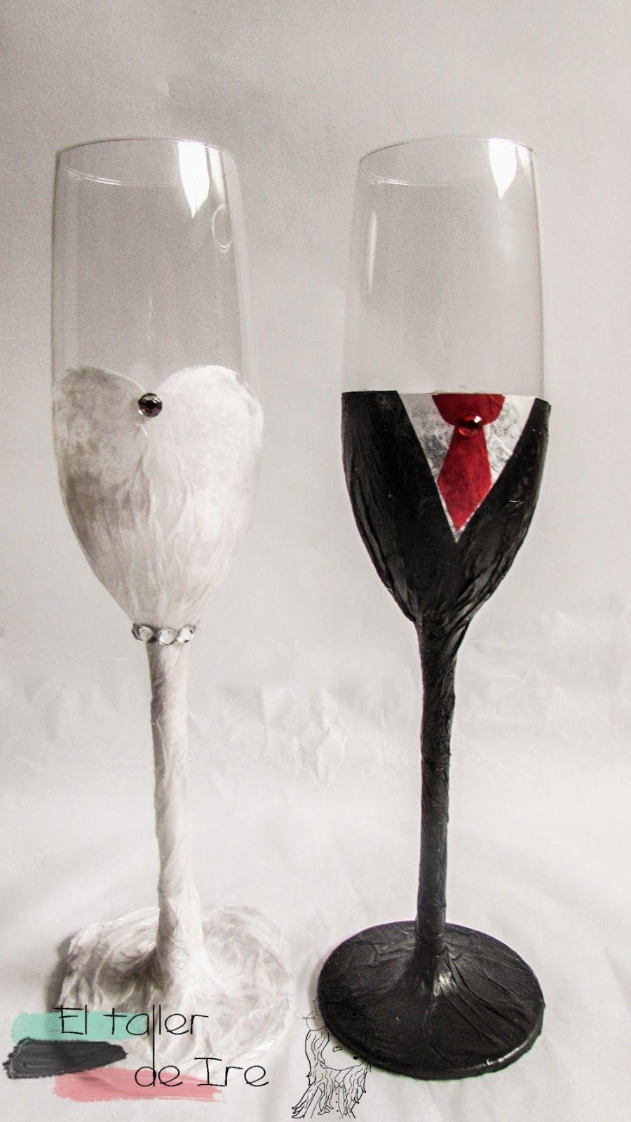 El taller de Ire: Decora tus propias copas de boda
