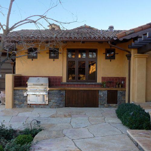 Mediterranean Small Backyard Patio Patio Design Ideas Remodels Photos Houzz Small Outdoor Kitchens Patio Colorful Patio