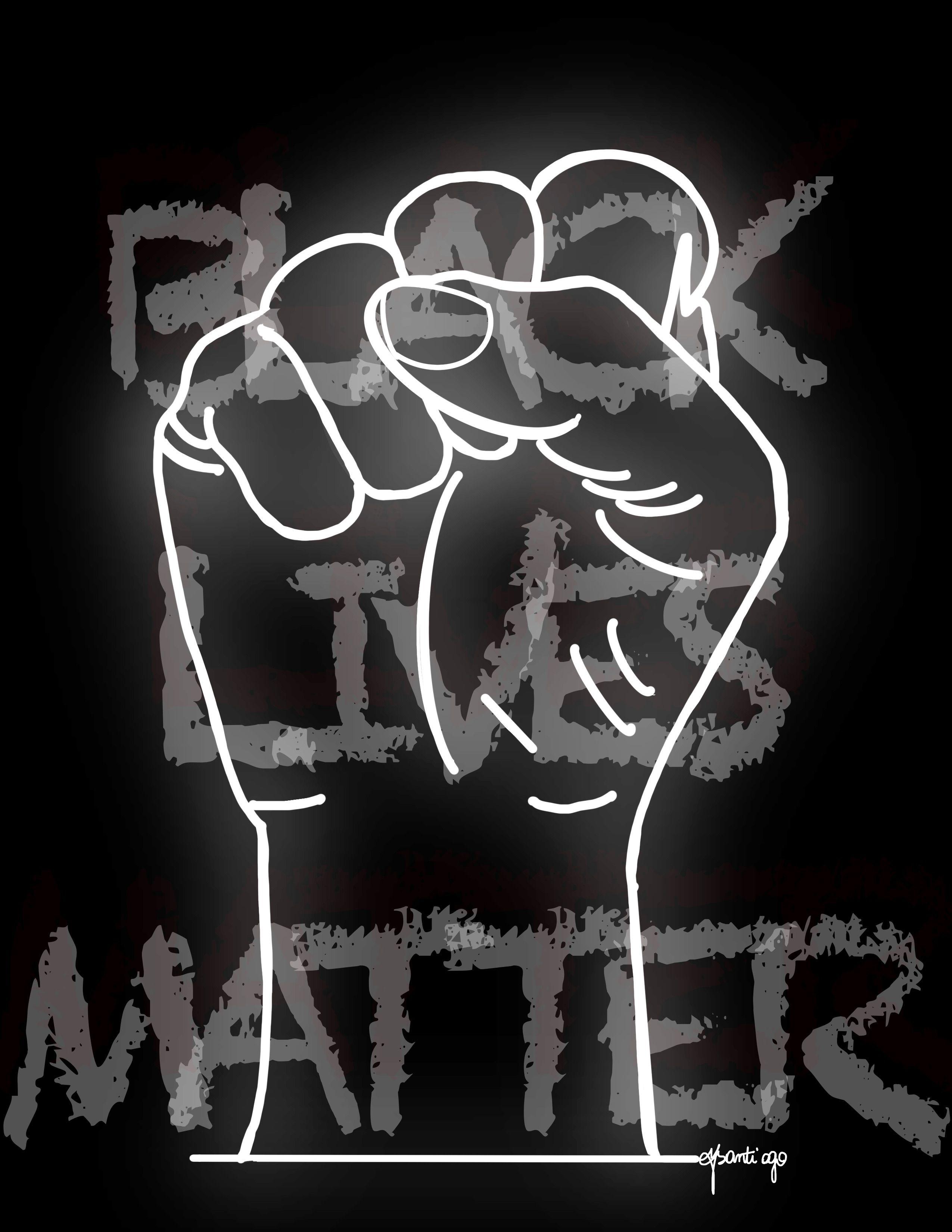 Black Lives Matter Outline Designs Picture Collage Wall Black Lives Matter Protest