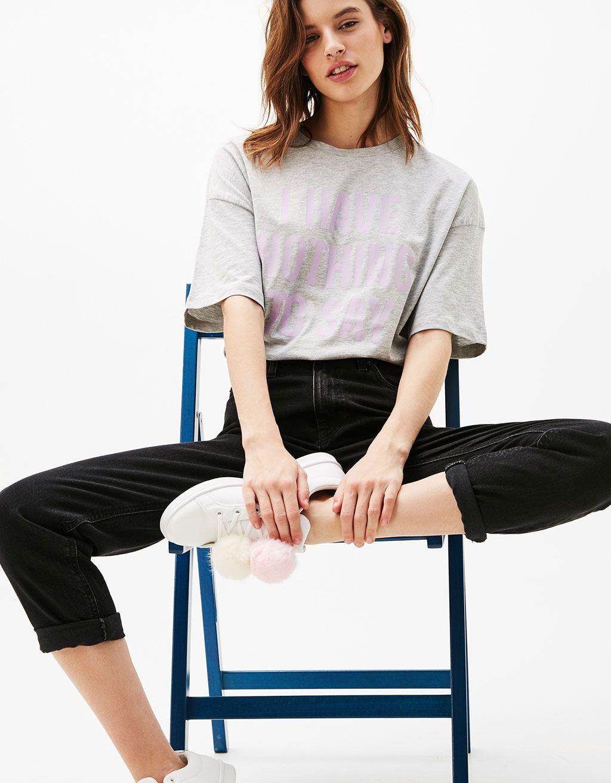 6acae1650 Camisetas de mujer - Primavera 2017 | Bershka España | ropa ...