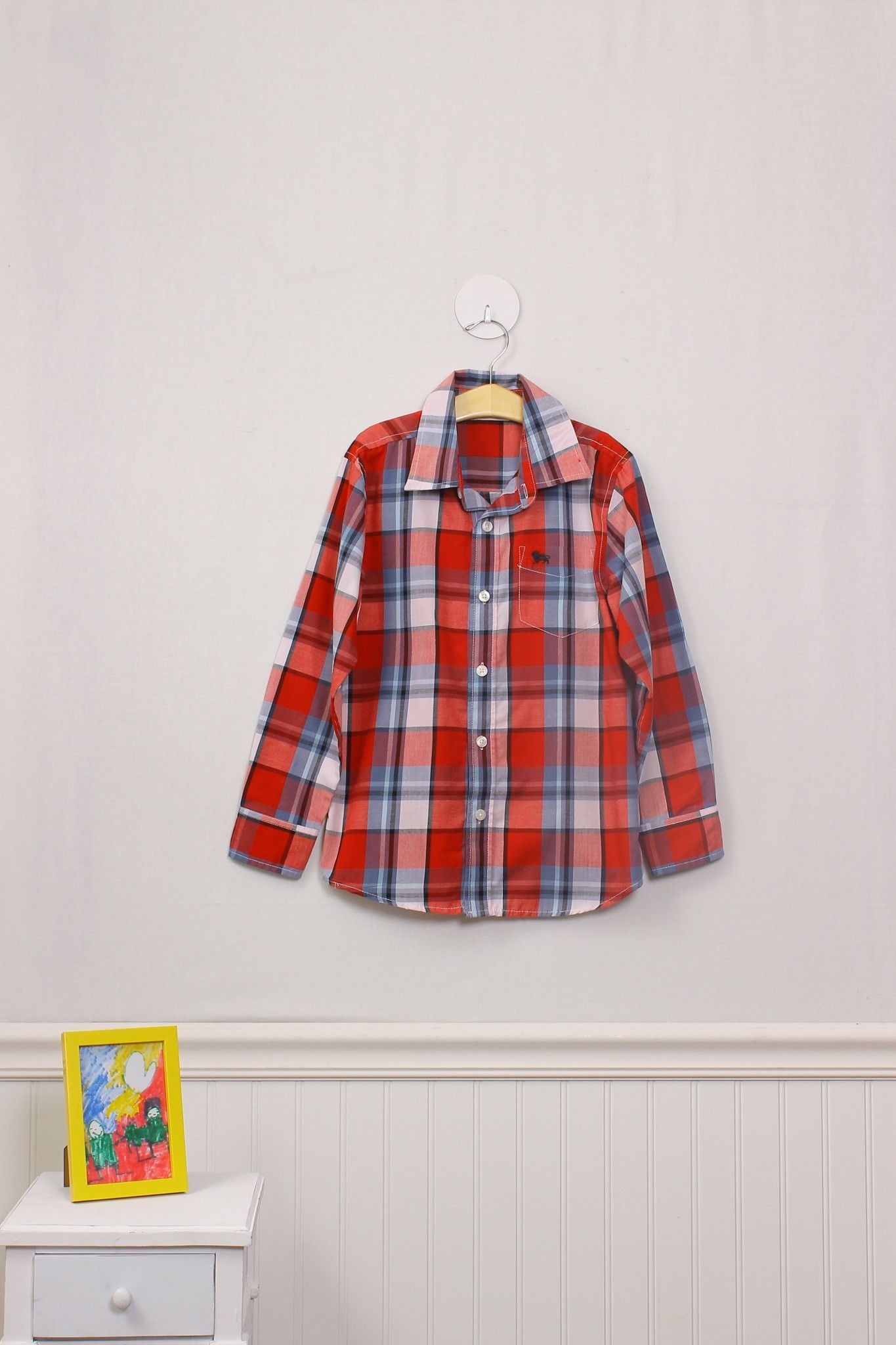 Moxie Jean now has single items! Like this great long sleeve button down shirt for a size 8 boy. Just $6.99 at www.MoxieJean.com