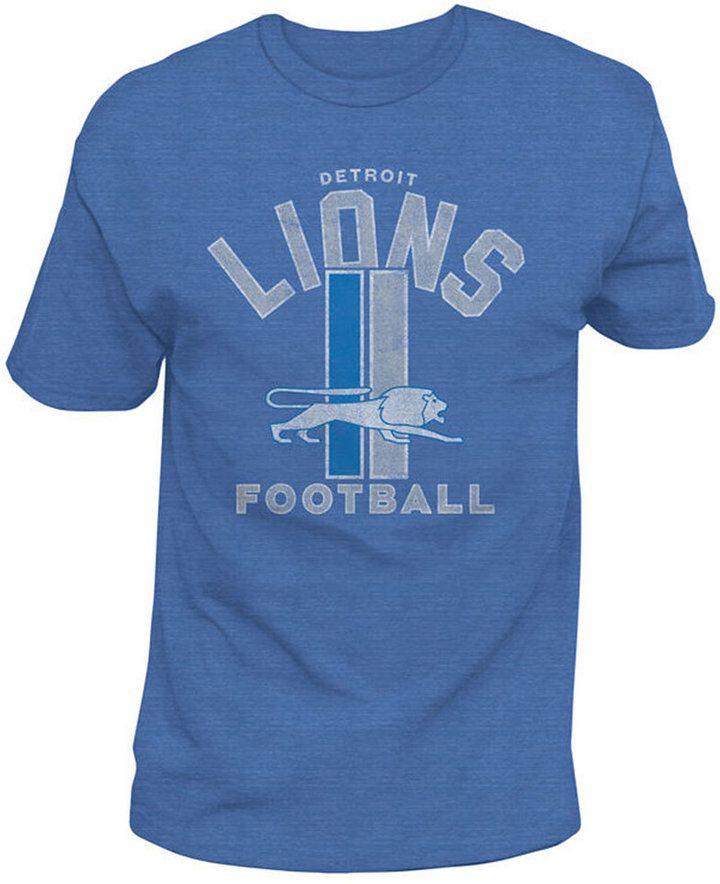 Authentic Nfl Apparel Men s Detroit Lions Midfield Retro T-Shirt ... 9d215a163