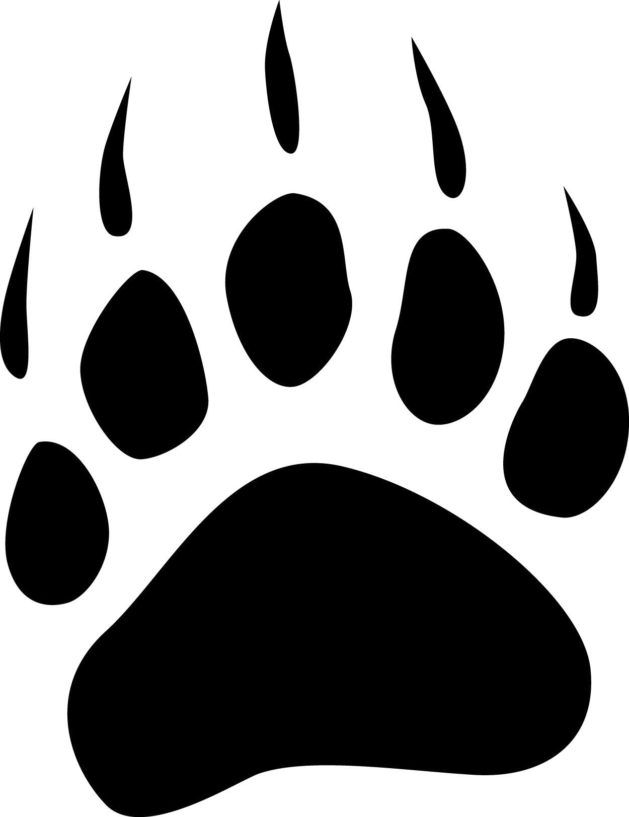Bearcat paw clip art bear paw tracks free cliparts that for Bear footprints template