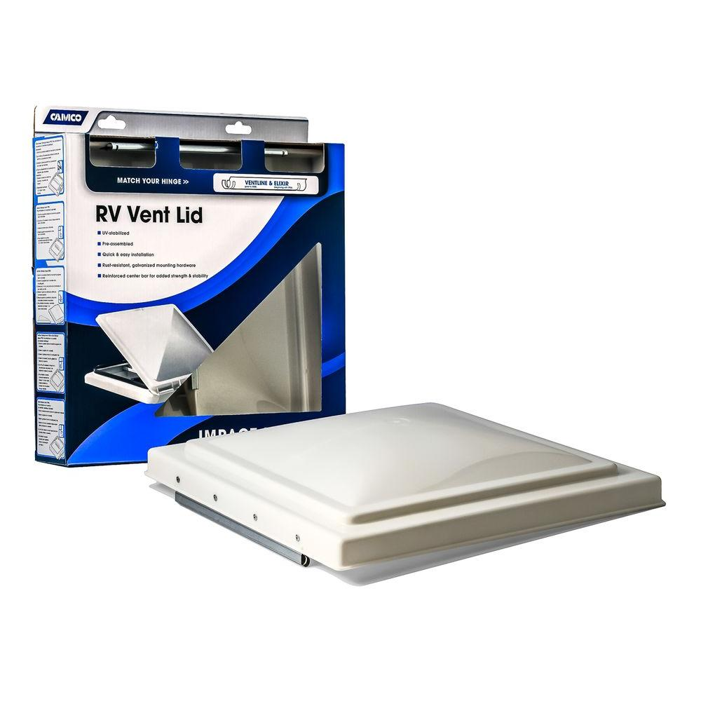 Camco White Polypropylene Replacement Vent Lid Home Depot Slab Leak Roof Vent Covers