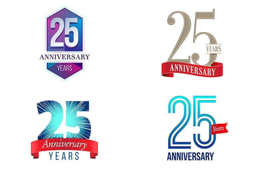 25th Anniversary Symbol 25 Year Anniversary 25th Anniversary Anniversary